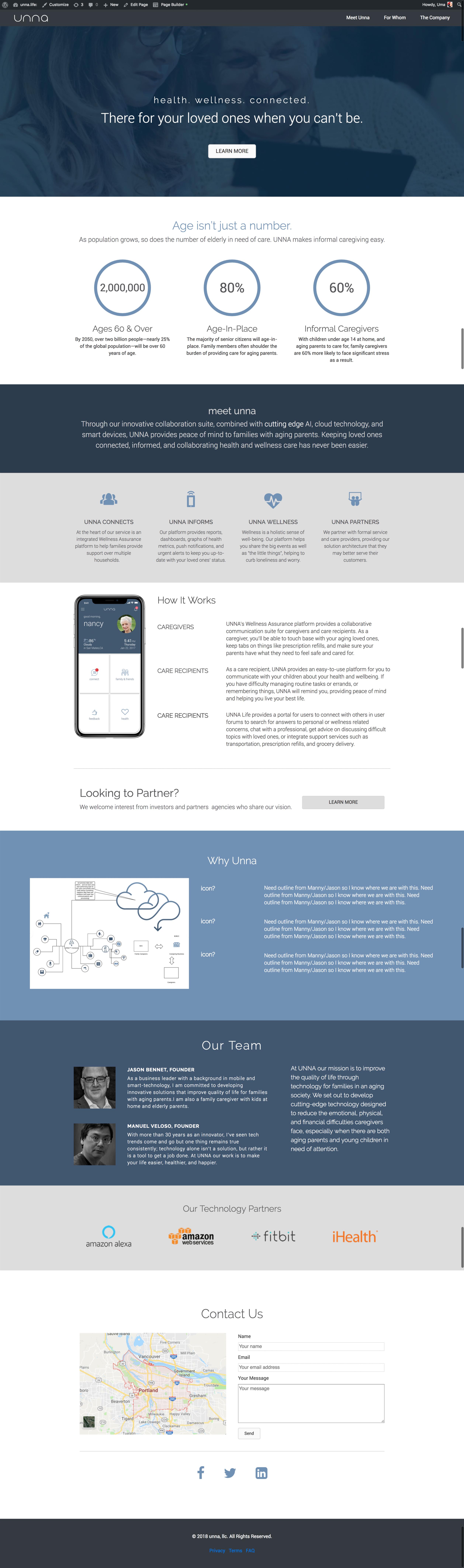 work in progress website